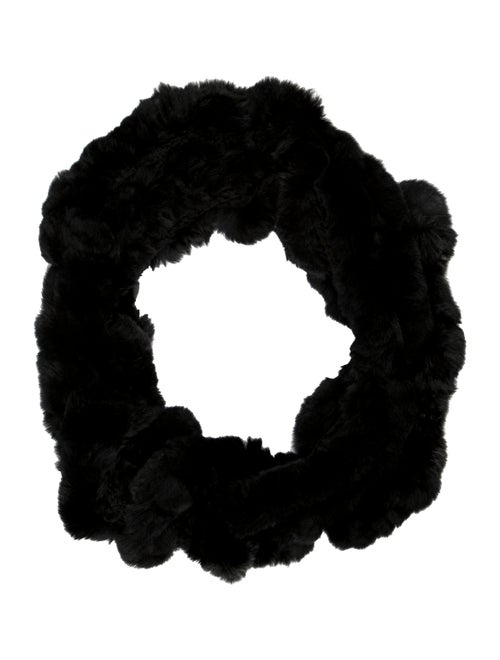 Fur Knit Snood Black