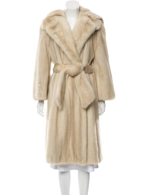 Fur Mink Belted Coat grey
