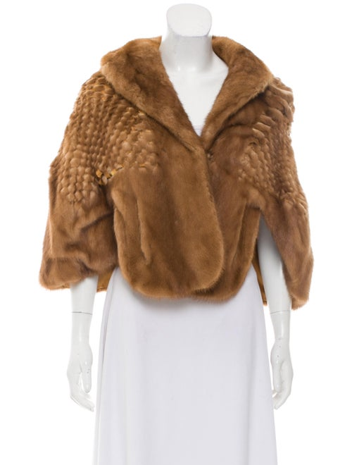 Fur Mink Fur Cape Brown - image 1