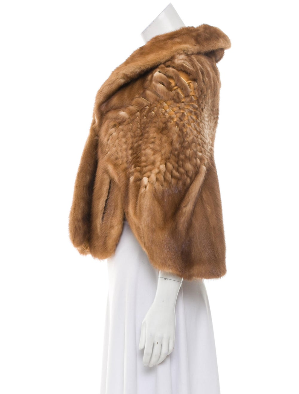 Fur Mink Fur Cape Brown - image 2