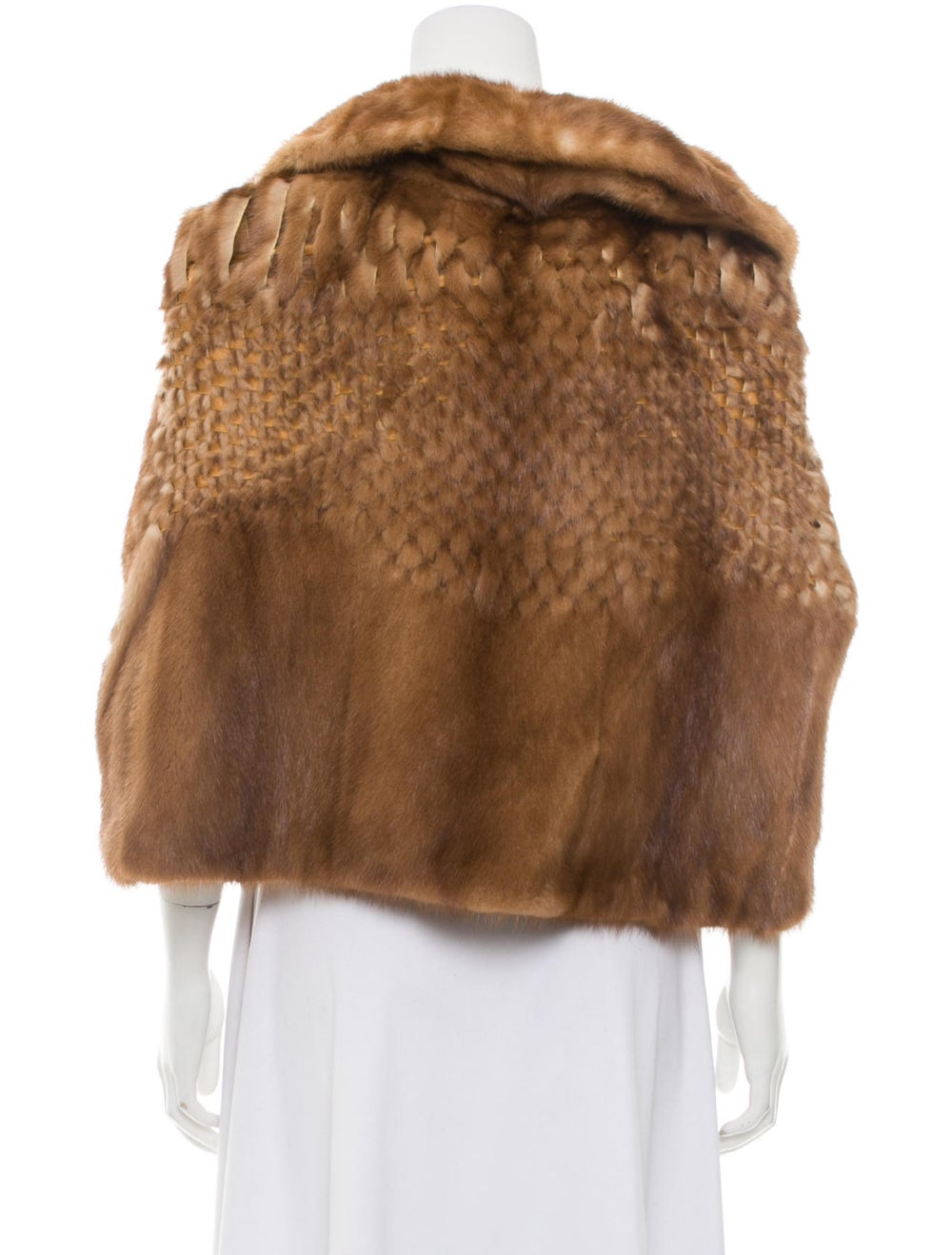 Fur Mink Fur Cape Brown - image 3