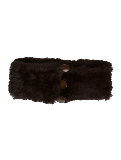 Fur Knit Snood Brown