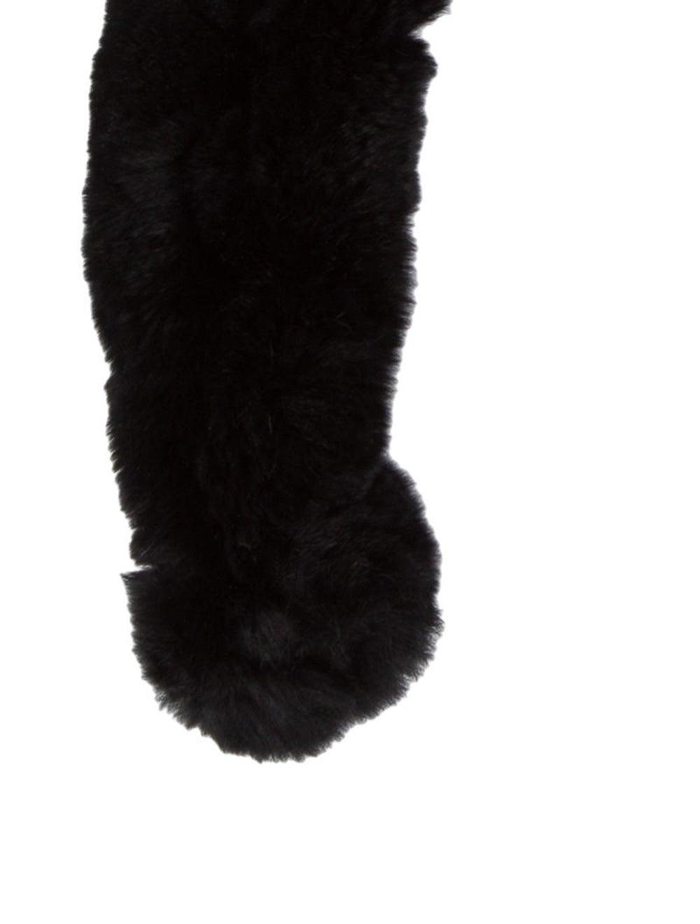 Fur Rabbit Fur Stole Black - image 2