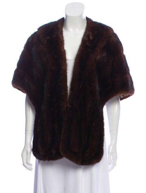 Mink Fur Shrug Brown
