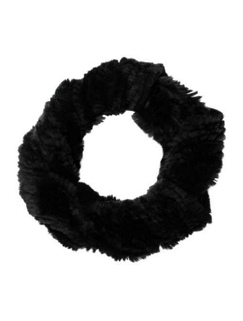 Fur Fur Snood Black