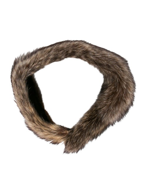 Fur Raccoon Snood Brown