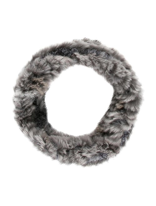 Fur Knit Snood Grey