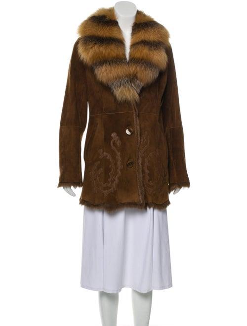 Shearling Short Coat Brown