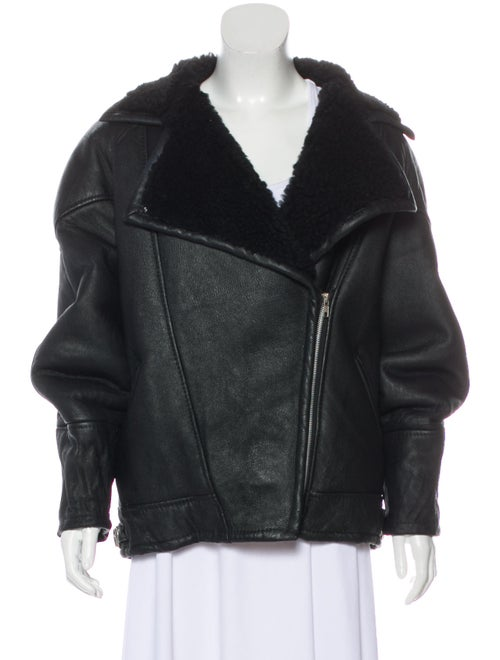 Shearling Moto Jacket Black