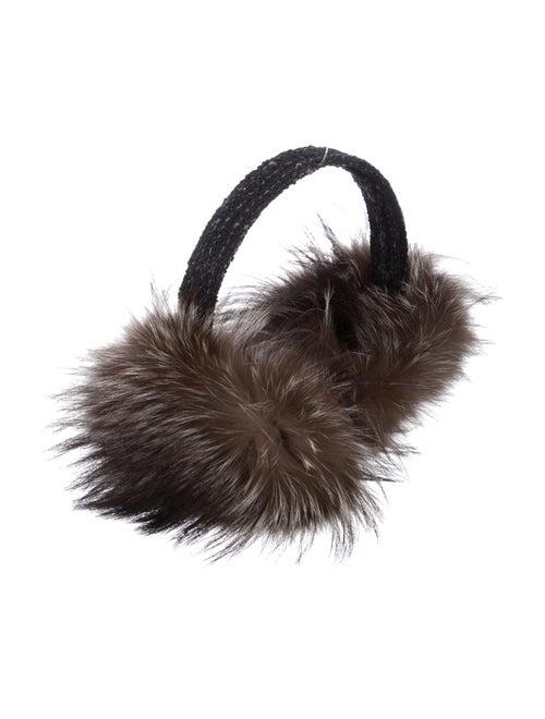 Fur Raccoon Fur Earmuffs Black