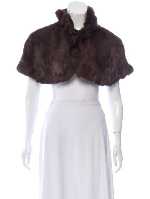 Cropped Fur Shrug Brown