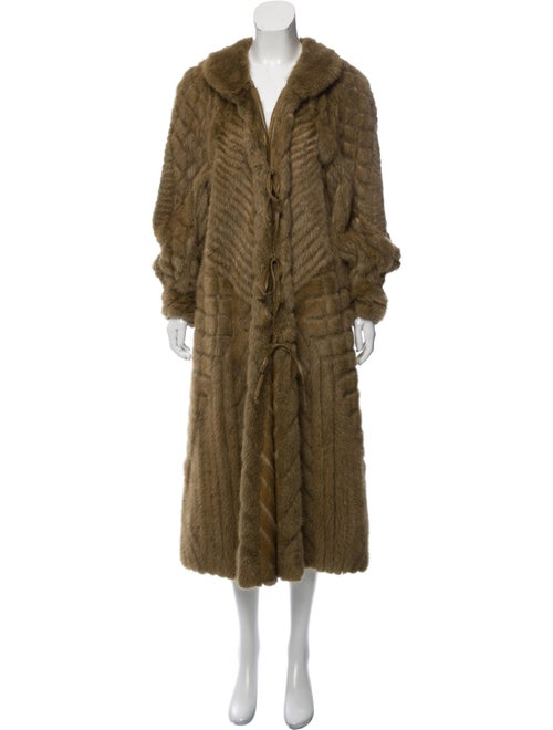 Fur Patchwork Mink Coat Green