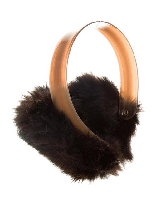 Fox Fur Earmuffs brown