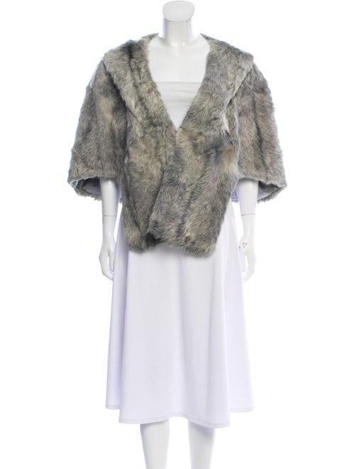 Fur Lamb Fur Cape Grey