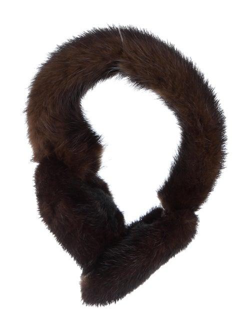 Mink Fur Ear Muffs Brown