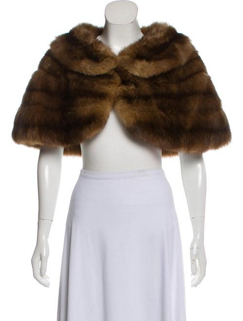 Fur Sable Lightweight Shrug Brown