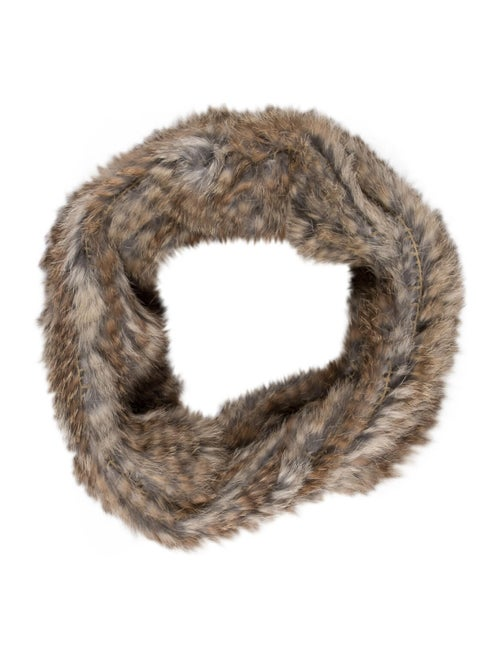 Fur Knit Snood Beige