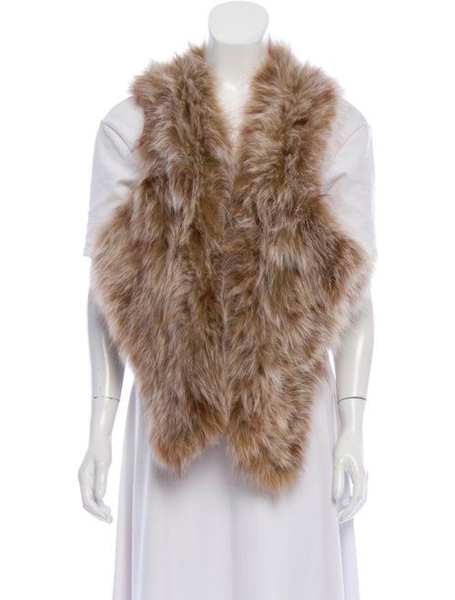 Knitted Fur Shrug Tan