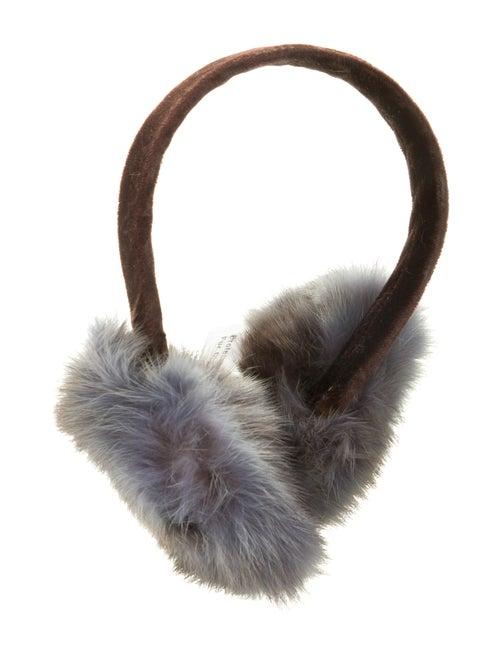 Sable Fur Earmuffs Grey