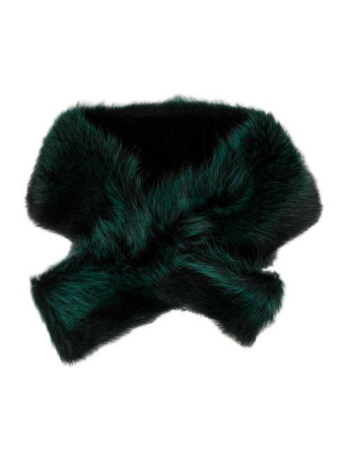 Fur Raccon Stole Green