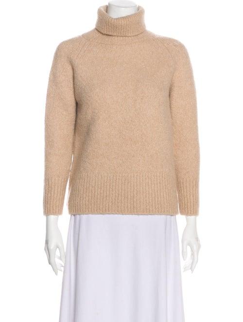 Fur Alpaca Turtleneck Sweater