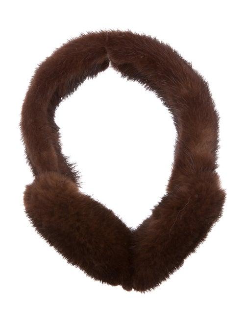 Fur Mink Ear Muffs Brown