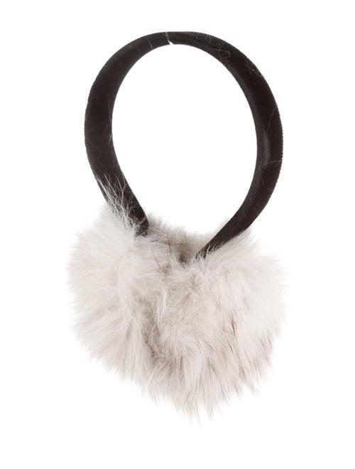 Fox Fur Earmuffs Black