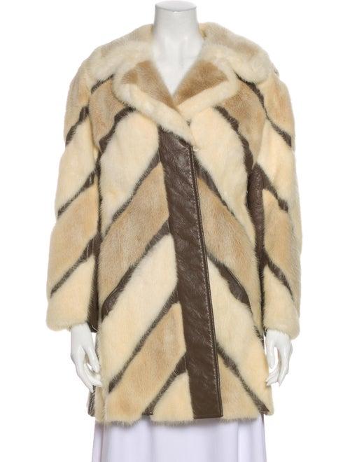Fur Striped Fur Coat