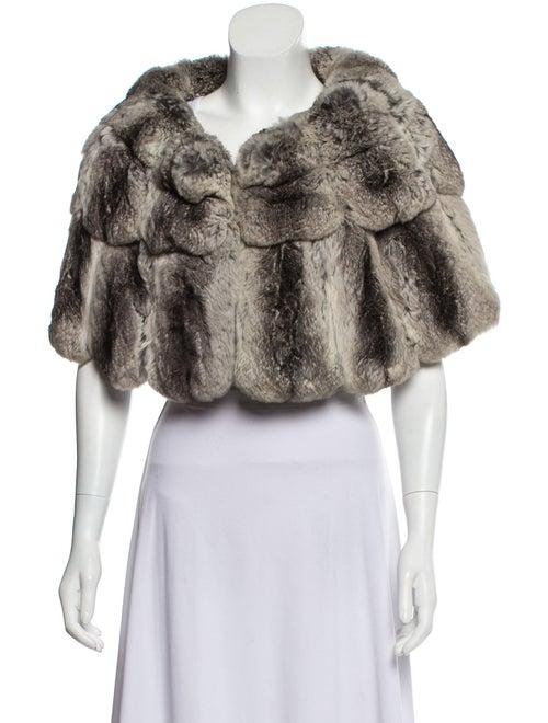 Chinchilla Fur Capelet Grey
