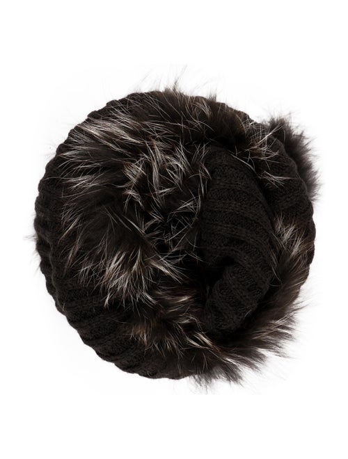 Racoon Knit Snood Black
