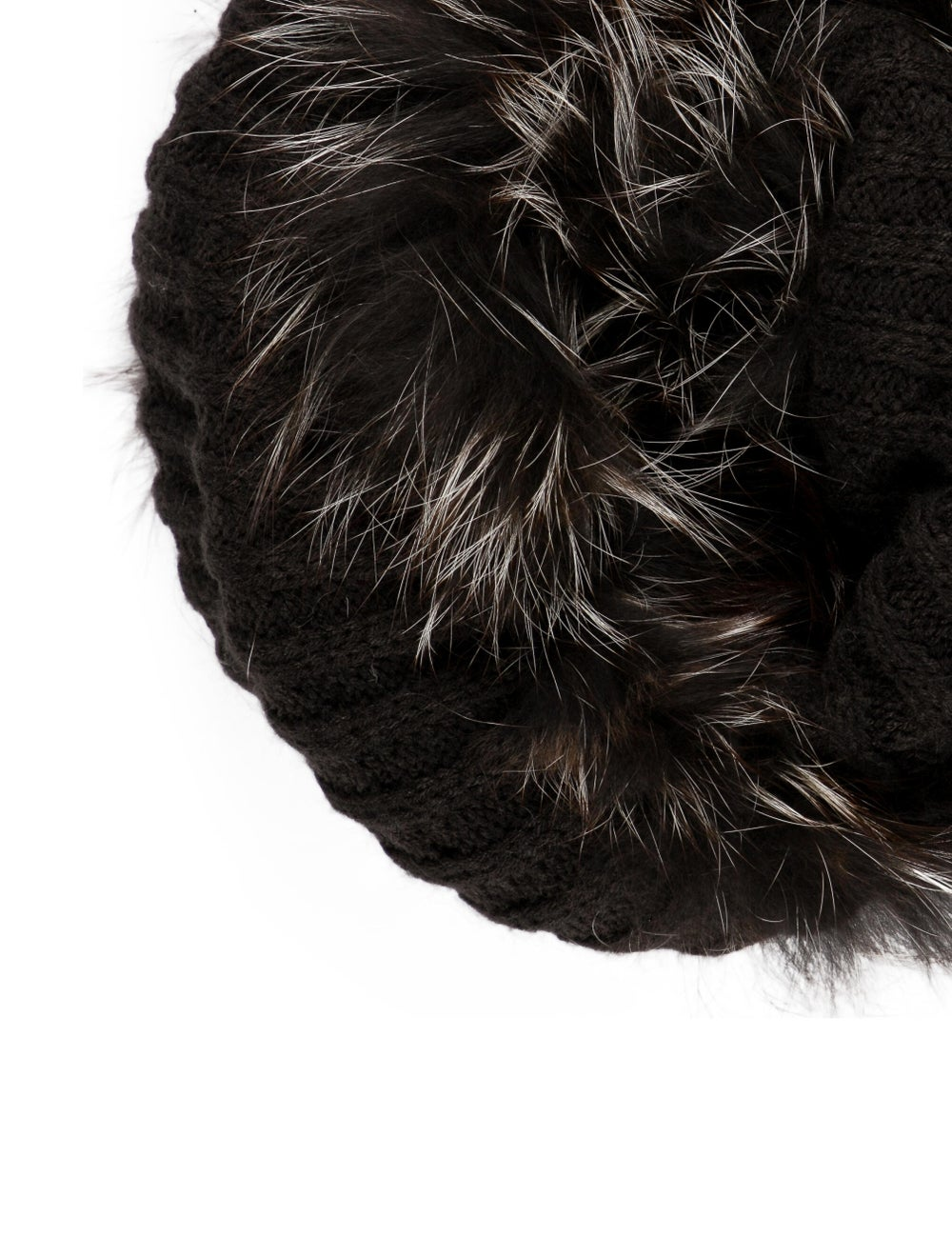 Racoon Knit Snood Black - image 2