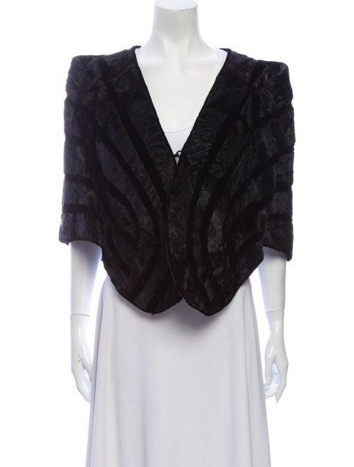 Fur Cape Black