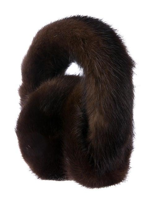 Mink Fur Earmuffs Brown