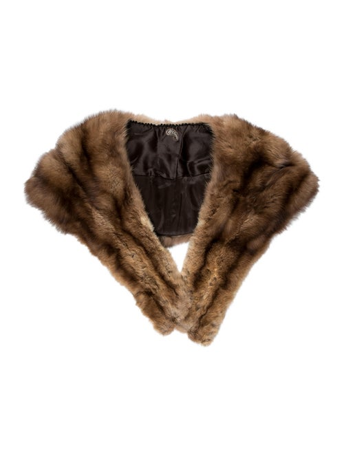 Fur Sable Stole Brown