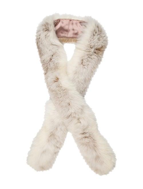 Fur Mink Fur Stole white