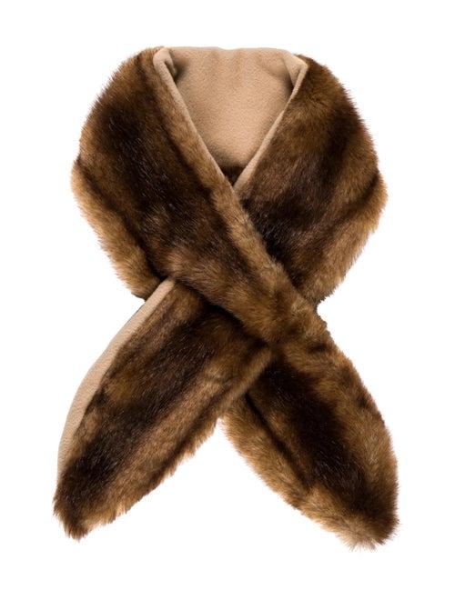 Fur Faux Fur Stole Brown