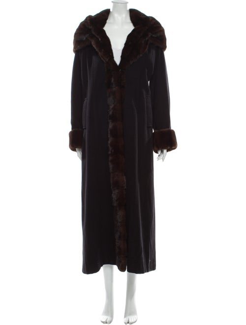 Fur Cashmere Faux Fur Coat Black