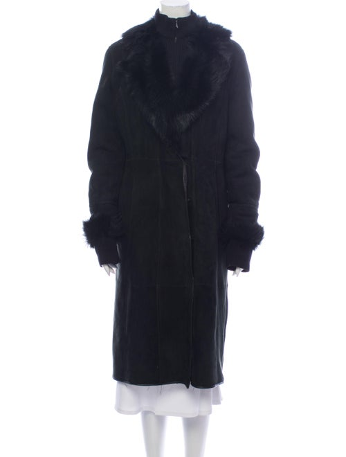 Fur Shearling Faux Fur Coat Black