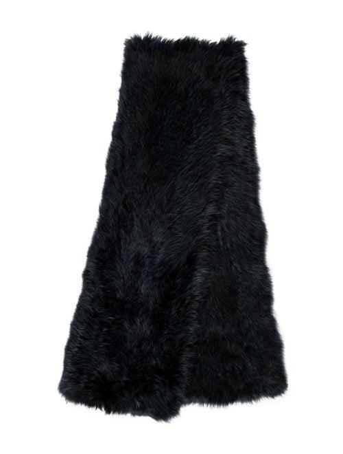 Fur Faux Fur Stole Blue