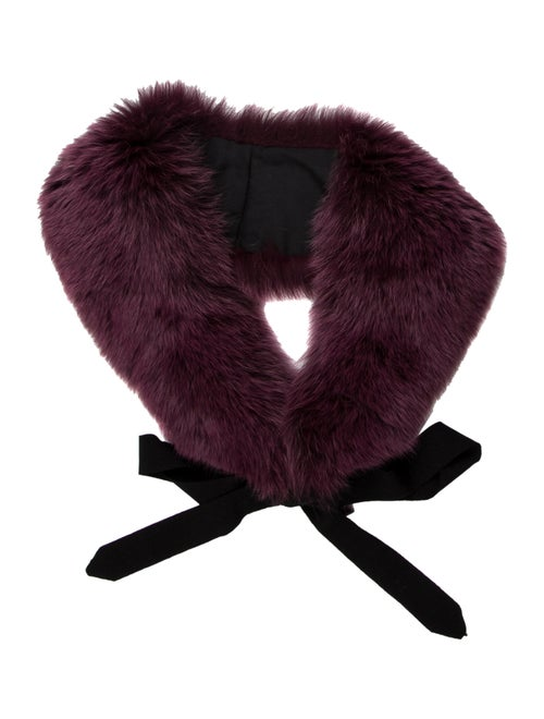 Fox Fur Stole Purple
