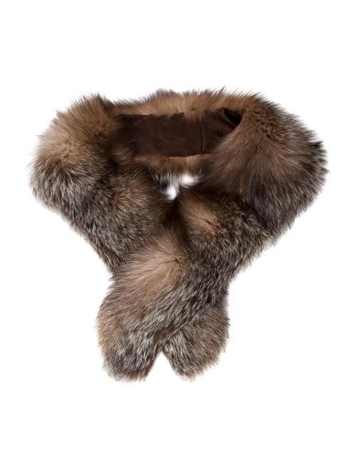 Fur Stole Brown