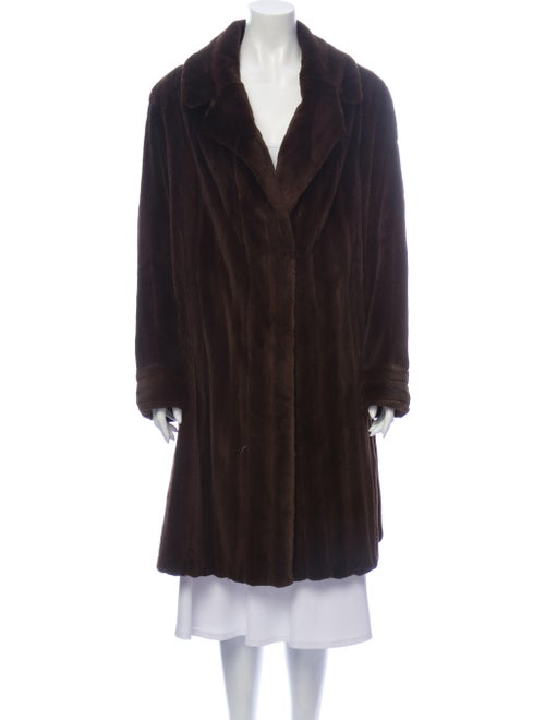 Fur Fur Coat Brown - image 1