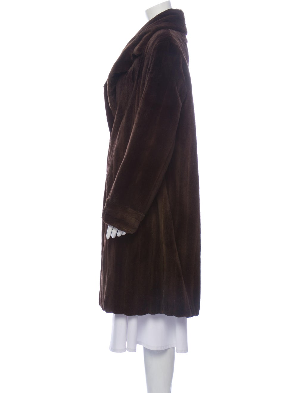 Fur Fur Coat Brown - image 2