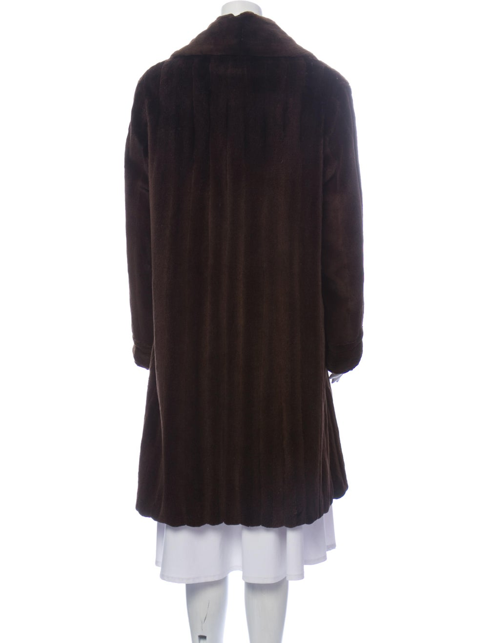Fur Fur Coat Brown - image 3