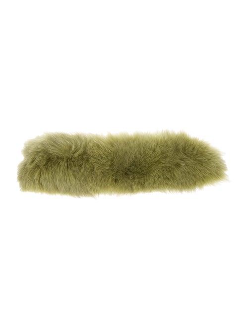 Fur Fox Fur Headband Chartreuse