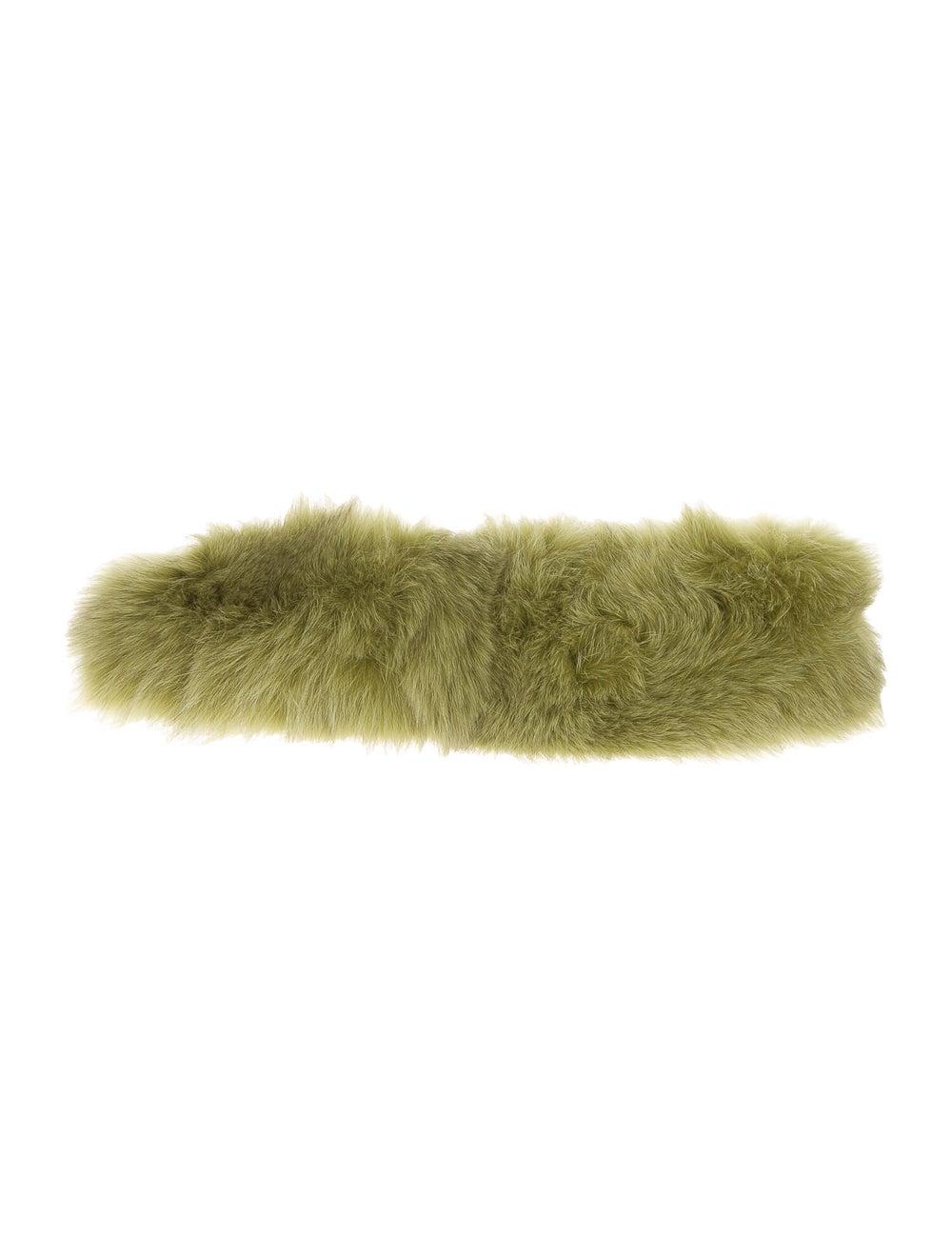 Fur Fox Fur Headband Chartreuse - image 2