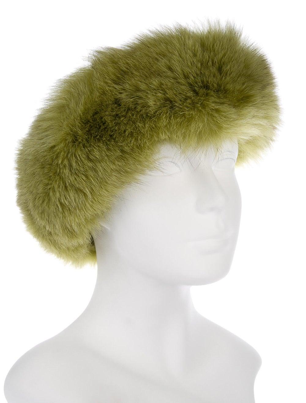 Fur Fox Fur Headband Chartreuse - image 3