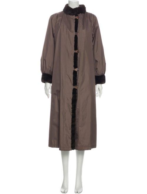 Fur Fur Coat Brown - image 1