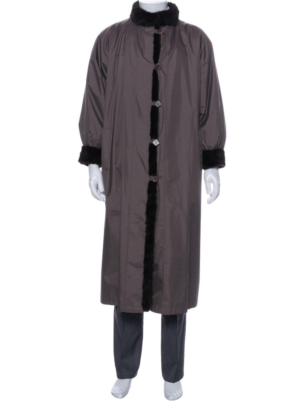 Fur Fur Coat Brown - image 4