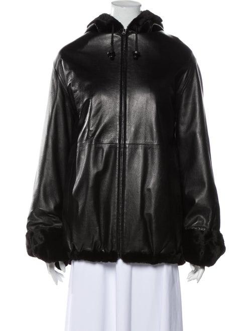 Fur Reversible Cape Black